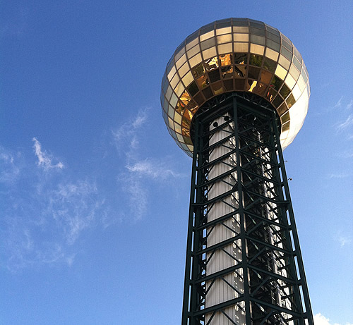 The Sunsphere. Icon of Knoxville, the setting of the 90s Coming of Age series.